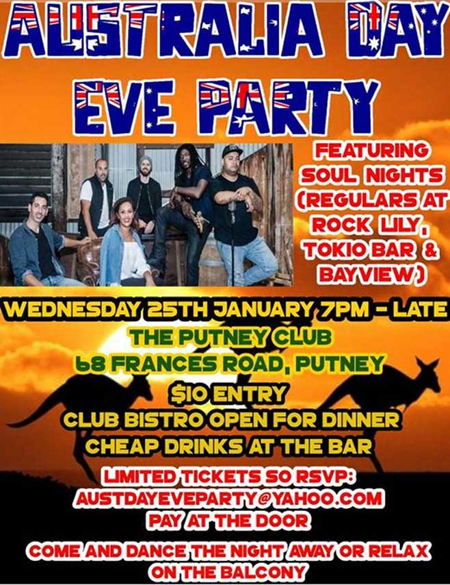 Australia Day eve party